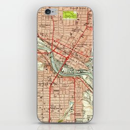 Vintage Map of Youngstown Ohio (1951) iPhone Skin