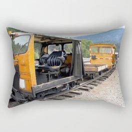 At the Rockwood Depot of the Durango & Silverton NG Railroad Rectangular Pillow