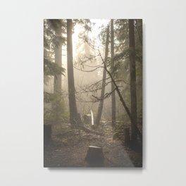 Sunrise Forest Adventure Metal Print