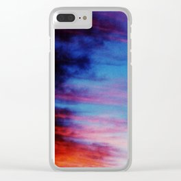 Colorful Sunset Clouds Clear iPhone Case