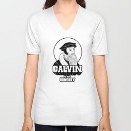 Calvin Is My Homeboy Unisex V-Neck