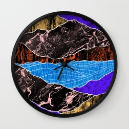 Textured lands Wall Clock