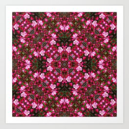Spring blossoms kaleidoscope - Strawberry Parfait Crabapple Art Print
