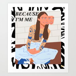 Because Art Print
