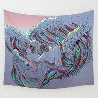 huebucket Wall Tapestries featuring Sunset by Huebucket