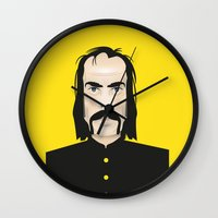 nick cave Wall Clocks featuring Nick cave by Matteo Lotti