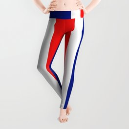 TEAM COLORS 10....RED, WHITE AND NAVY Leggings