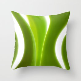 Green Leaves abstract 029 Throw Pillow