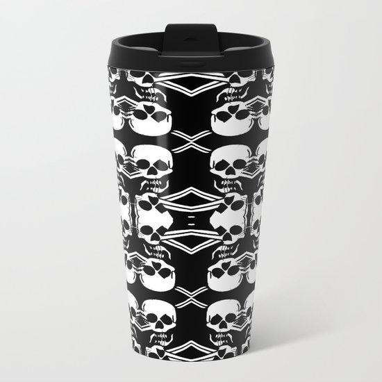Saber Skulls Metal Travel Mug