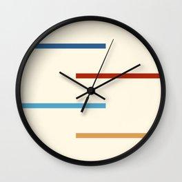 Abstract Minimal Retro Stripes Jivamukti Wall Clock