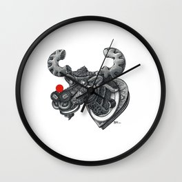 Merry Kiss-Moose Wall Clock