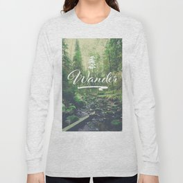 Mountain of solitude - text version Long Sleeve T-shirt