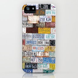 State License Plate Collage iPhone Case