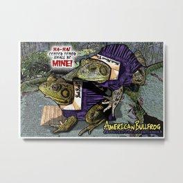 American Bullfrog- Choral Aggression Metal Print