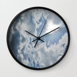 cloudy days Wall Clock