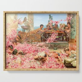 The Roses of Heliogabalus by Sir Lawrence Alma-Tadema Serving Tray