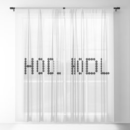 HODL YOUR CRYPTOCURRENCY BITCOIN LITECOIN RIPPLE ETHEREUM Sheer Curtain