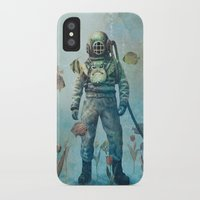 yellow iPhone & iPod Cases featuring Deep Sea Garden  by Terry Fan