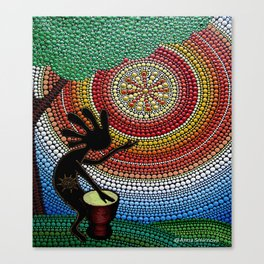 Kokopelli. God of fun and fertility Canvas Print