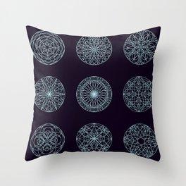 Mandala seamless pattern Throw Pillow
