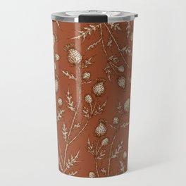 Thistle in Autumn Travel Mug