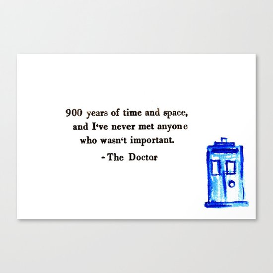Doctor Who Print Canvas Print
