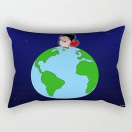 Taking over the world Rectangular Pillow