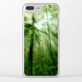 Joyful Forest Clear iPhone Case