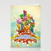 smash bros Stationery Cards featuring Smash! by Jesse Musto