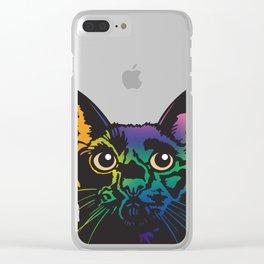 Rainbow Cat Clear iPhone Case