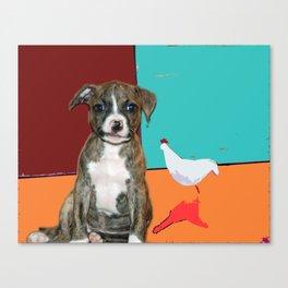 Little Bo Peep meets Donald Canvas Print