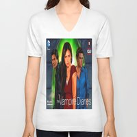 vampire diaries V-neck T-shirts featuring The Vampire Diaries by Don Kuing