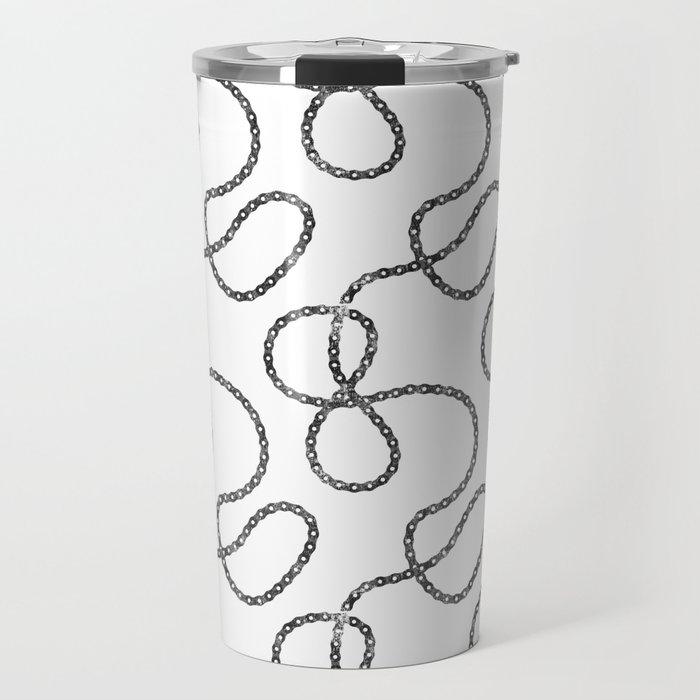 bicycle chain repeat pattern Travel Mug