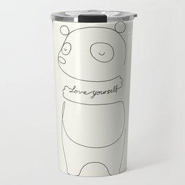 Love Yourself Panda Travel Mug