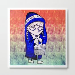 Caputxeta blava / Little Blue Riding Hood Metal Print