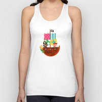 pirate ship Tank Tops featuring PIRATE SHIP (AQUATIC VEHICLES) by Alapapaju