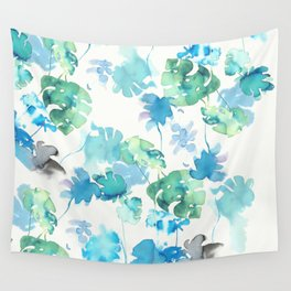 Tropical leaves, (collab Dylan Silva!) Wall Tapestry