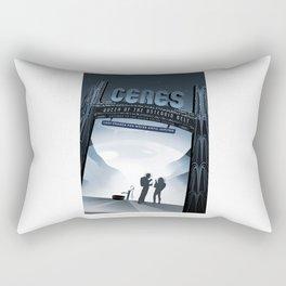 Ceres - NASA Space Travel Posters  Rectangular Pillow