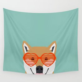 Shiba Inu Love - Gifts for pet owners dog person gifts shiba inu gifts customizable dog gifts cute Wall Tapestry