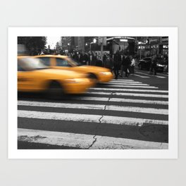 NYC Yellow Taxis  Art Print