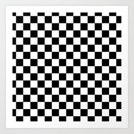 Checkered Flag Art Print
