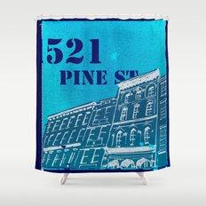 Pine St Shower Curtain