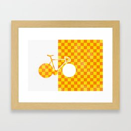 Bike Pattern 2  Framed Art Print