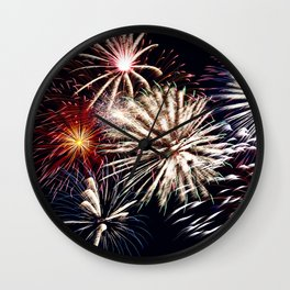 celebration fireworks Wall Clock