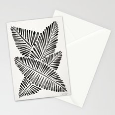 Tropical Banana Leaves – Black Palette Stationery Cards