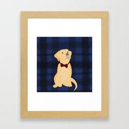 Best Friend Labrador Puppy In A Bow Tie Framed Art Print