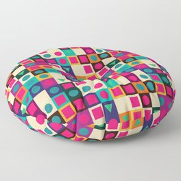 Geometric pattern with shapes Floor Pillow