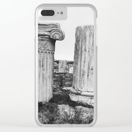 Ruined columns at the Parthenon Clear iPhone Case