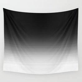 Black & White Ombre Gradient Wall Tapestry
