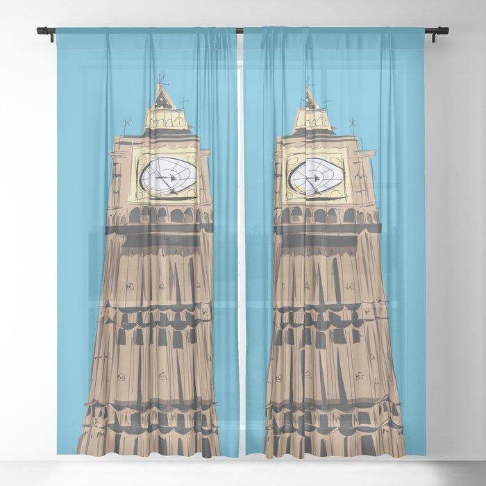London Big Ben Sheer Curtain
